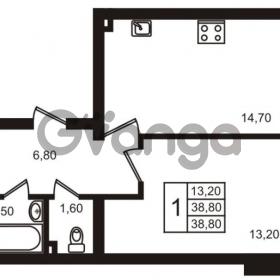 Продается квартира 1-ком 38.8 м² Выборгское шоссе 1, метро Пропект Просвещения
