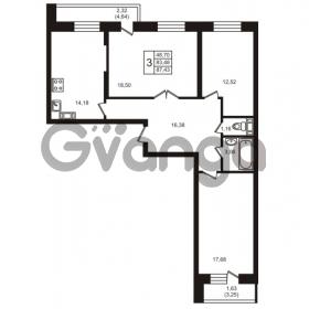 Продается квартира 3-ком 83 м² улица Кирова 11, метро Улица Дыбенко
