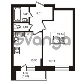 Продается квартира 1-ком 40 м² улица Кирова 11, метро Улица Дыбенко