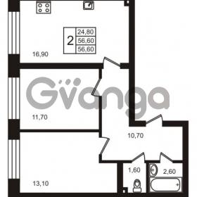 Продается квартира 2-ком 56.6 м² Выборгское шоссе 1, метро Пропект Просвещения