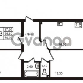 Продается квартира 3-ком 69.9 м² Выборгское шоссе 1, метро Пропект Просвещения