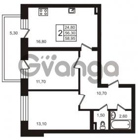 Продается квартира 2-ком 58.95 м² Выборгское шоссе 1, метро Пропект Просвещения