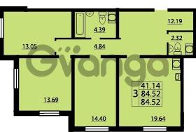 Продается квартира 3-ком 84 м² проспект Маршала Блюхера 12Б, метро Лесная