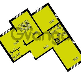Продается квартира 3-ком 79 м² проспект Маршала Блюхера 12Б, метро Лесная