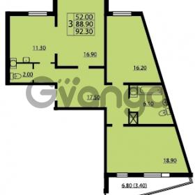 Продается квартира 3-ком 92 м² проспект Маршала Блюхера 12Б, метро Лесная