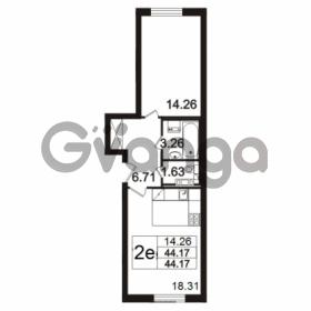 Продается квартира 2-ком 44.17 м² Берёзовая улица 1, метро Проспект Просвещения