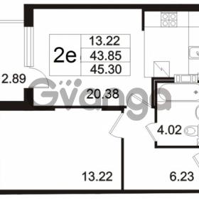 Продается квартира 2-ком 45.3 м² Берёзовая улица 1, метро Проспект Просвещения
