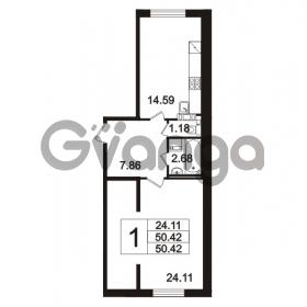 Продается квартира 1-ком 50.42 м² Берёзовая улица 1, метро Проспект Просвещения