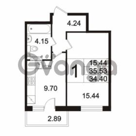 Продается квартира 1-ком 34.4 м² Берёзовая улица 1, метро Проспект Просвещения