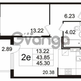 Продается квартира 1-ком 45.3 м² Берёзовая улица 1, метро Проспект Просвещения