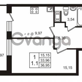 Продается квартира 1-ком 36 м² Воронцовский бульвар 1, метро Девяткино
