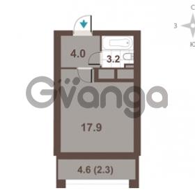 Продается квартира 1-ком 27.4 м² Московский проспект 65, метро Фрунзенская