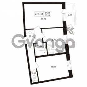 Продается квартира 2-ком 54.63 м² Пугаревская улица 1, метро Ладожская
