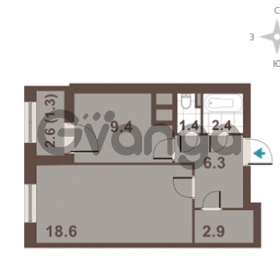 Продается квартира 1-ком 42.3 м² Московский проспект 65, метро Фрунзенская