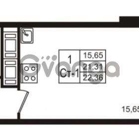 Продается квартира 1-ком 22 м² Воронцовский бульвар 1, метро Девяткино