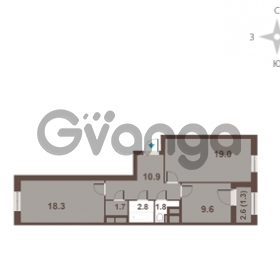 Продается квартира 2-ком 65.4 м² Московский проспект 65, метро Фрунзенская
