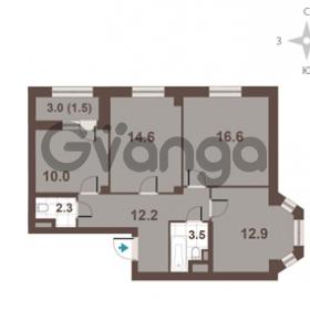 Продается квартира 3-ком 73.6 м² Московский проспект 65, метро Фрунзенская