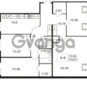 Продается квартира 4-ком 120.7 м² набережная Обводного канала 108, метро Фрунзенская