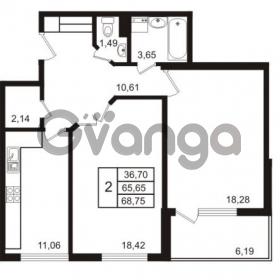 Продается квартира 2-ком 65.75 м² набережная Обводного канала 108, метро Фрунзенская