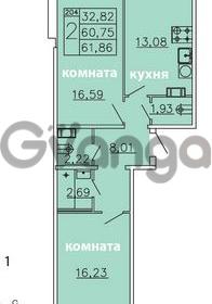 Продается квартира 2-ком 61.86 м² Ленинградское шоссе 11, метро Проспект Ветеранов
