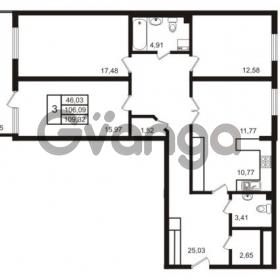 Продается квартира 3-ком 105.77 м² набережная Обводного канала 108, метро Фрунзенская
