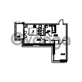 Продается квартира 1-ком 45.96 м² проспект Энгельса 2, метро Черная Речка