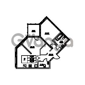 Продается квартира 1-ком 62.84 м² проспект Энгельса 2, метро Черная Речка