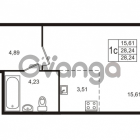 Продается квартира 1-ком 28 м² Берёзовая улица 1, метро Проспект Просвещения