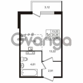 Продается квартира 1-ком 25 м² Берёзовая улица 1, метро Проспект Просвещения