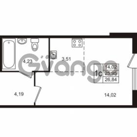 Продается квартира 1-ком 26 м² Берёзовая улица 1, метро Проспект Просвещения