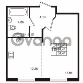Продается квартира 1-ком 34 м² Берёзовая улица 1, метро Проспект Просвещения