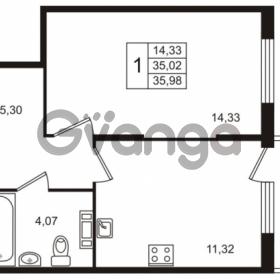 Продается квартира 1-ком 35 м² Берёзовая улица 1, метро Проспект Просвещения