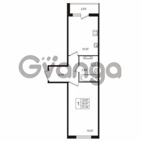 Продается квартира 1-ком 37 м² Берёзовая улица 1, метро Проспект Просвещения
