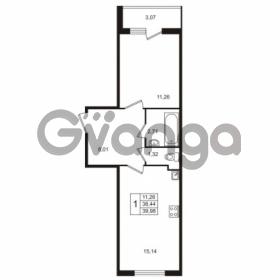 Продается квартира 1-ком 39 м² Берёзовая улица 1, метро Проспект Просвещения
