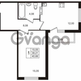 Продается квартира 1-ком 40 м² Берёзовая улица 1, метро Проспект Просвещения