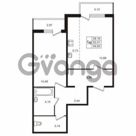 Продается квартира 1-ком 54 м² Берёзовая улица 1, метро Проспект Просвещения