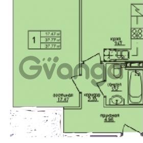 Продается квартира 1-ком 37 м² Понтонная улица 28, метро Рыбацкое