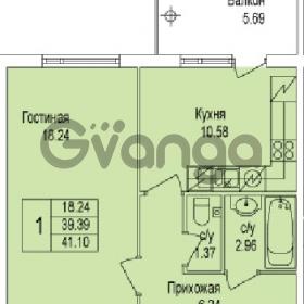Продается квартира 1-ком 41 м² Понтонная улица 28, метро Рыбацкое