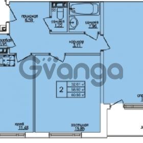 Продается квартира 2-ком 61 м² Понтонная улица 28, метро Рыбацкое