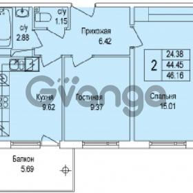Продается квартира 2-ком 46 м² Понтонная улица 29, метро Рыбацкое