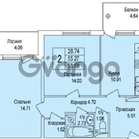 Продается квартира 2-ком 58 м² Понтонная улица 29, метро Рыбацкое
