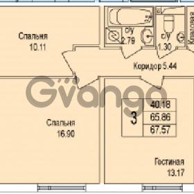 Продается квартира 3-ком 67 м² Понтонная улица 29, метро Рыбацкое