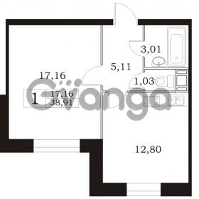 Продается квартира 1-ком 38.91 м² Арсенальная улица 4, метро Девяткино
