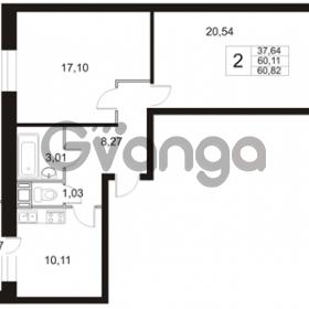 Продается квартира 2-ком 60.82 м² Арсенальная улица 4, метро Девяткино