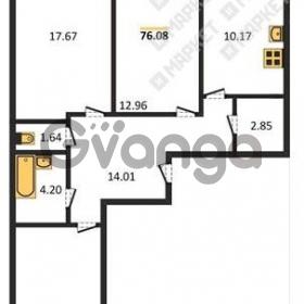 Продается квартира 3-ком 76 м² Школьная улица 11к 1, метро Проспект Просвещения