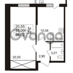 Продается квартира 1-ком 38.02 м² проспект Авиаторов Балтики 2, метро Девяткино