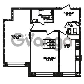 Продается квартира 2-ком 59 м² Юнтоловский проспект 53к 3, метро Старая деревня