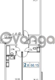 Продается квартира 2-ком 66 м² Школьная улица 11к 2, метро Проспект Просвещения