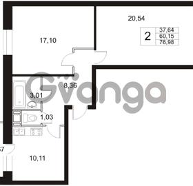 Продается квартира 2-ком 76.98 м² Арсенальная улица 4, метро Девяткино
