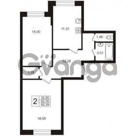 Продается квартира 2-ком 62.39 м² Арсенальная улица 2, метро Девяткино